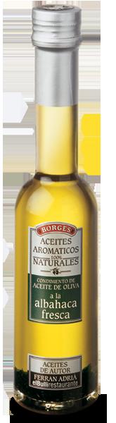 Оливковые масла с натуральными добавками Оливковое масло со свежим базиликом