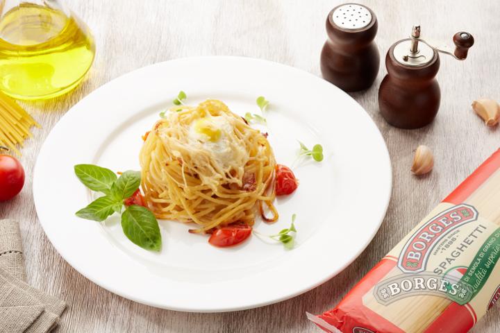 Паста Спагетти карбонара запеченные