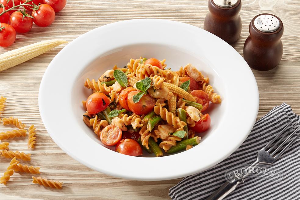 Ваши средиземноморские рецепты Фузилли с кроликом, фасолью и мятой