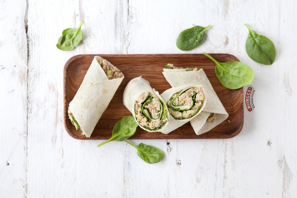 Ваши средиземноморские рецепты Ролл с тунцом, сельдереем и грецким орехами