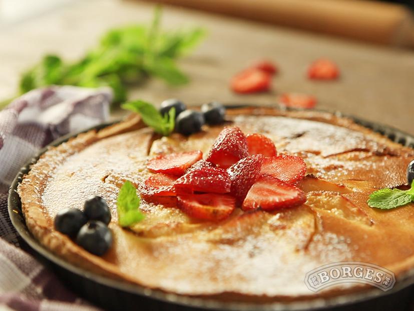 Тарт с грушами и ванильно-миндальным кремом
